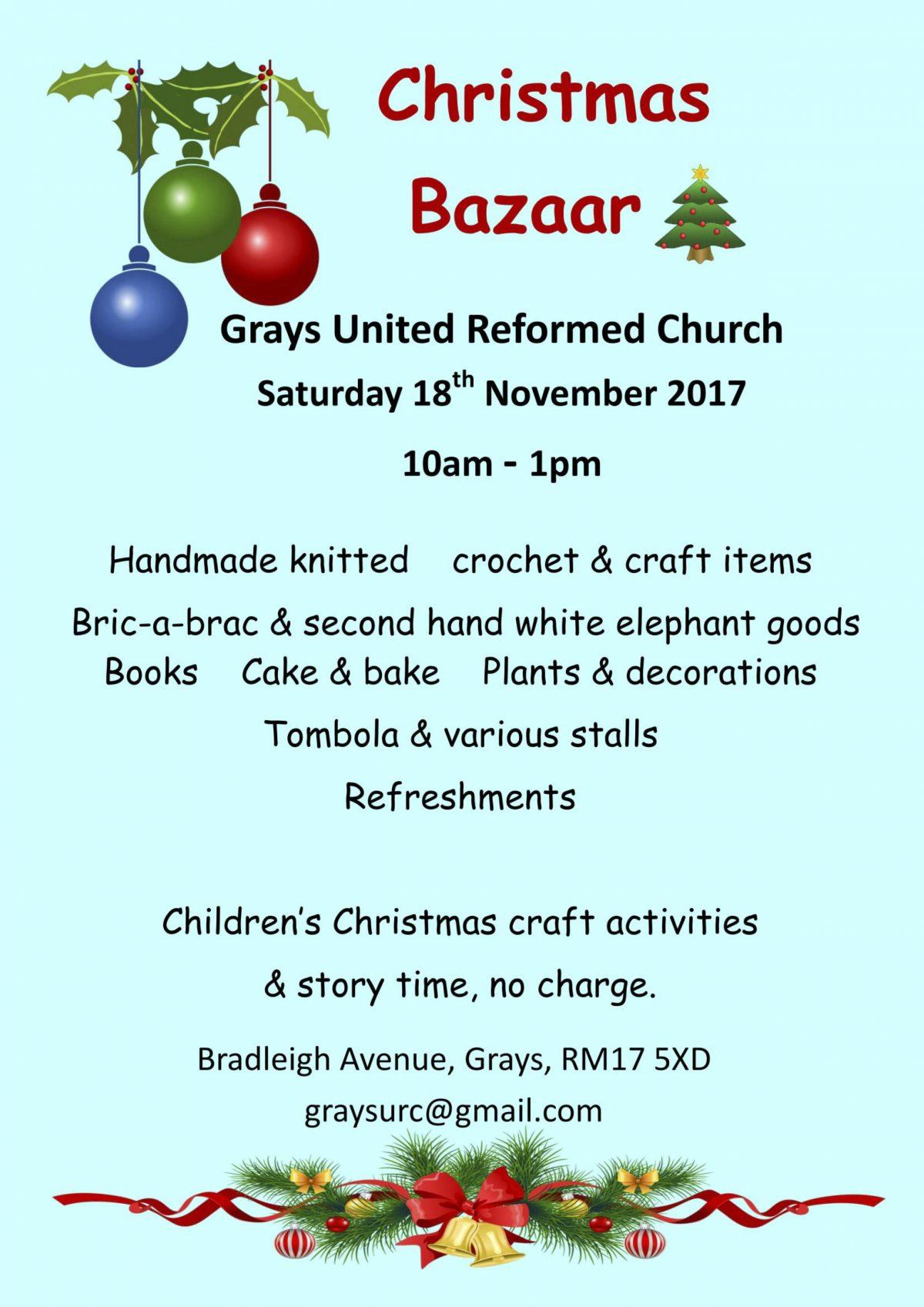 Christmas Bazaar Grays URC
